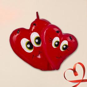 Свеча формовая «Два сердечка», 5 см