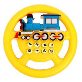 Руль музыкальный «Паровоз», работает от батареек, цвета МИКС