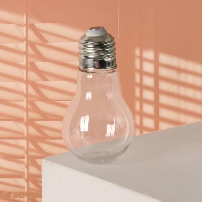 Бутылочка для хранения «Лампочка», 80 мл, цвет серебряный