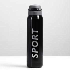 """Термос """"Спорт"""" с поильником, 500 мл, 5.5х23 см, черный"""