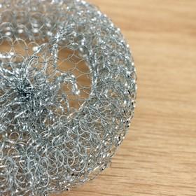 Губка для мытья посуды, металлическая, 12 гр.