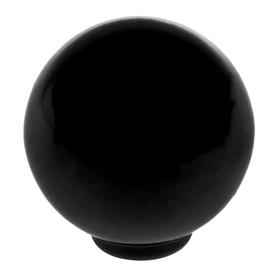 Ручка кнопка PLASTIC 008, пластиковая, черная Ош