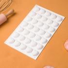 Форма для муссовых десертов и выпечки Доляна «Сердца», 29,7×17,3 см, 35 ячеек (2,5×2,3 см), цвет белый - Фото 2
