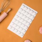 Форма для муссовых десертов и выпечки Доляна «Сердца», 29,7×17,3 см, 35 ячеек (2,5×2,3 см), цвет белый - Фото 3
