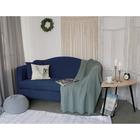 Чехол для мягкой мебели Collorista,3-х местный диван,наволочка 40*40 см в ПОДАРОК,тёмн.синий 24809