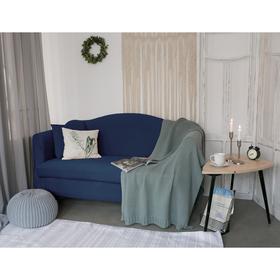 Чехол для мягкой мебели Collorista,3-х местный диван,наволочка 40*40 см в ПОДАРОК,тёмн.синий 24809 Ош