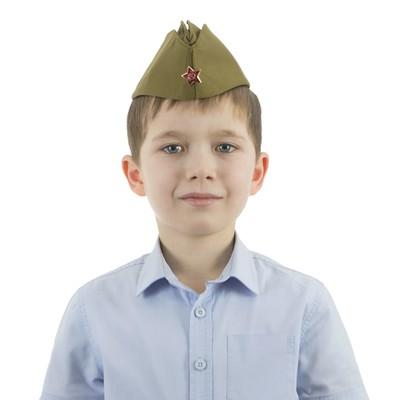 Пилотка детская, люкс, р. 50-52 см - Фото 1