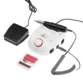 Машинка для маникюра и педикюра JessNail JD103Н, 30000 об/мин, с педалью, цвет МИКС