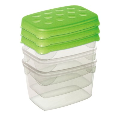 Набор мини-контейнеров, 3 шт., 80 мл, 7 х 5 х 5 см - Фото 1