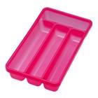 Лоток для столовых приборов, 4 секции, 31 х 18 х 4,5 см