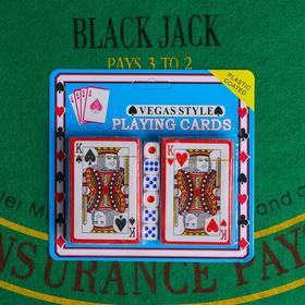 Покер, набор для игры (карты 2 колоды, кубики игральные 6 шт) микс Ош