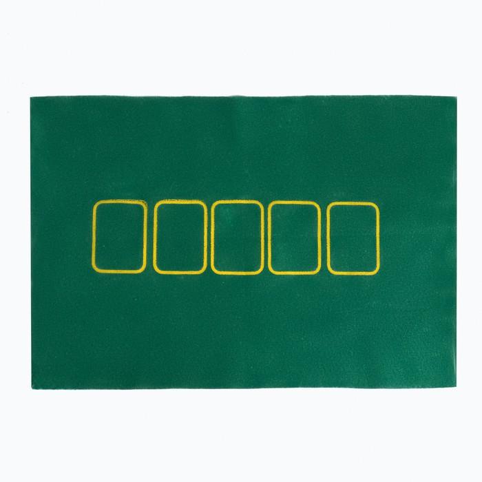 Покер, набор для игры карты 2 колоды, фишки с номин. 100 шт, сукно 40х60 см
