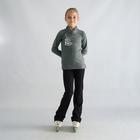 Водолазка для фигурного катания «Серебряный серфер», размер 42-44, цвет серый