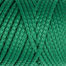 Шнур для вязания без сердечника 100% полиэфир, ширина 3мм 100м/210гр, (122 зеленый)