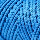 Шнур для вязания без сердечника 100% полиэфир, ширина 3мм 100м/210гр, (14 синий) - Фото 3