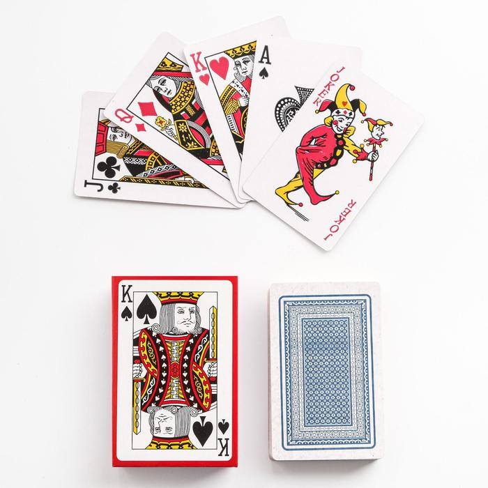Карты игральные бумажные Классика. Король, 54 шт, 8.85.7 см, микс