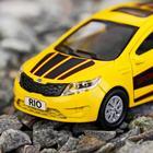 Машина металлическая Kia Rio, открываются двери, багажник, инерция, 12 см, МИКС - Фото 4