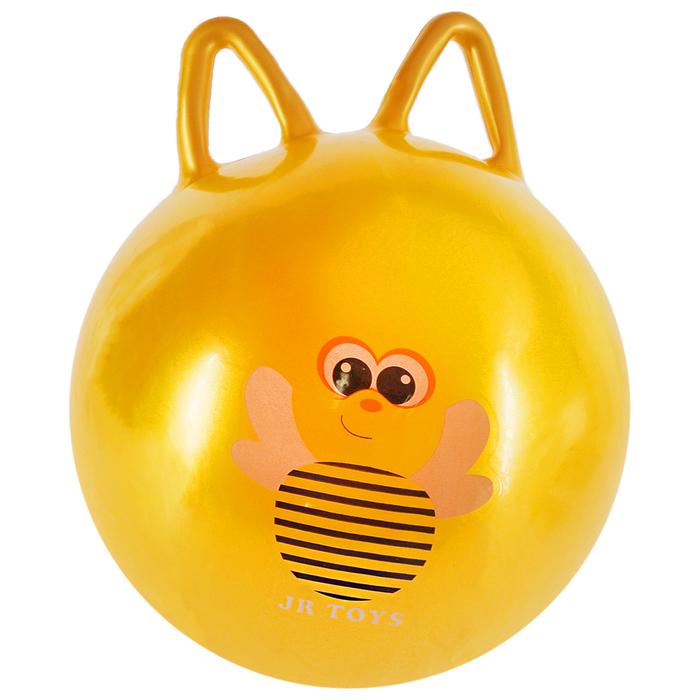 Мяч попрыгун Пчелка с ушками, d45 см, 380 г, жёлтый