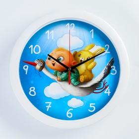 Часы настенные, серия: Животный мир, 'Приключение', белый обод, 28х28 см микс Ош