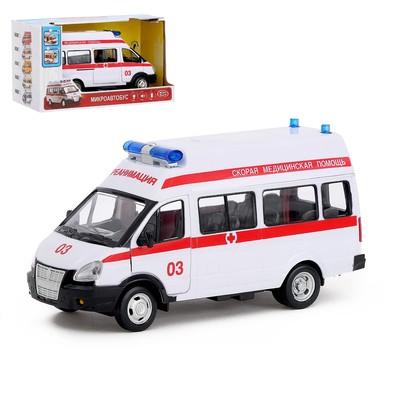 Машина инерционная «Микроавтобус - Скорая помощь», масштаб 1:29, свет и звук