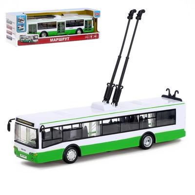 Троллейбус инерционный «Городской», масштаб 1:43, свет и звук