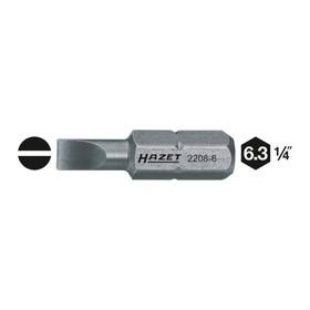 """Насадка (бита) HAZET 2208-6, для винтов со шлицем, 1/4"""""""