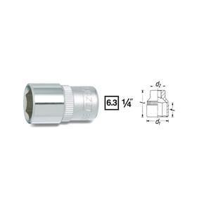 """Головка торцевая HAZET 850-10, 1/4"""", 10 мм, 6 граней"""