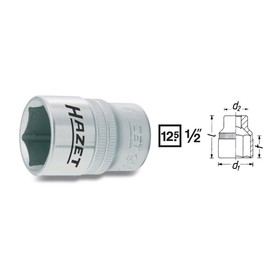 """Головка торцевая HAZET 900-10, 10 мм, 1/2"""", 6 граней"""