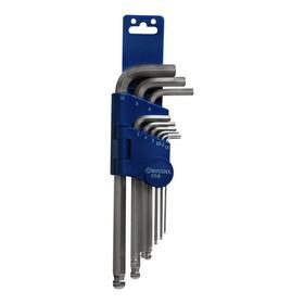 Набор ключей BOVIDIX 6050409, шестигранные, шарикового типа, 9 шт.
