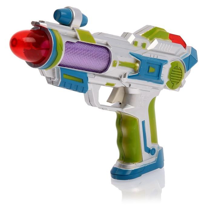 """Пистолет """"Космо"""", световые и звуковые эффекты, работает от батареек, цвета МИКС"""