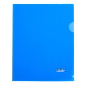 Папка-уголок А5, 180 мкм, синяя