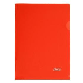 Папка-уголок А5, 180 мкм, красная Ош