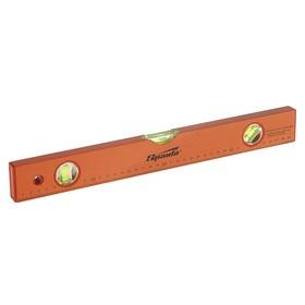 Уровень SPARTA, 40 см, алюминиевый, 3 глазка, оранжевый, линейка Ош