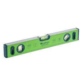 """Уровень """"СИБРТЕХ"""", 40 см, алюминиевый, ±0.5 мм/м, фрезерованный, 3 глазка, магнитный"""