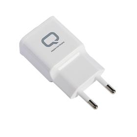 Сетевое зарядное устройство Qumo, Quick Charge, USB, 2 А, белое