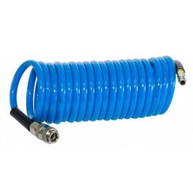 Шланг спиральный FUBAG 170305, фитинги рапид, полиуретан, 15бар, 8x12мм, 10м