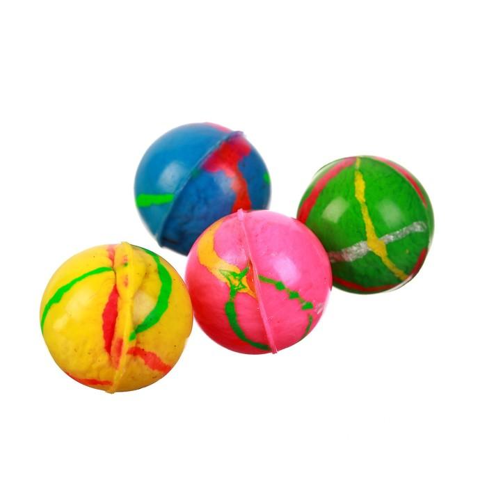 Мяч каучуковый Блеск, 2,4 см, цвета МИКС