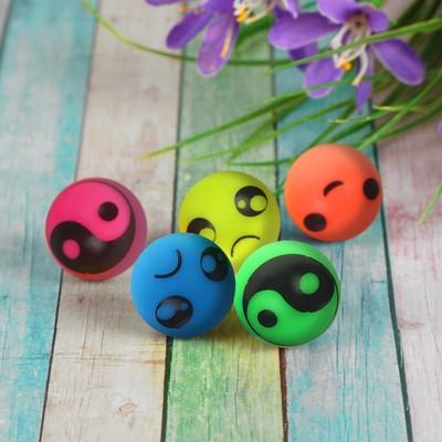 Мяч «Рожицы», 2,4 см, цвета МИКС - Фото 1