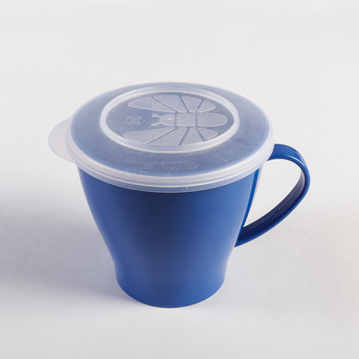 Чашка 360 мл, с крышкой, цвета МИКС - Фото 1