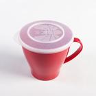 Чашка 360 мл, с крышкой, цвета МИКС - Фото 2