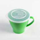 Чашка 360 мл, с крышкой, цвета МИКС - Фото 3