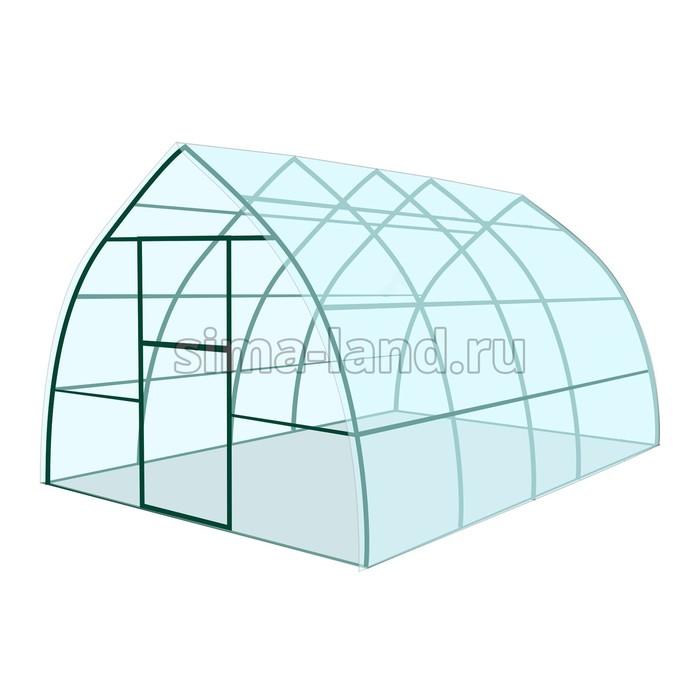 Каркас теплицы «Капелька», 4 × 3 × 2,1 м, металл, профиль 20 × 20 мм, шаг 1 м, 1 мм, без поликарбоната