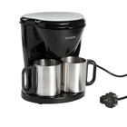 Кофеварка GELBERK GL-540, капельная, 500 Вт, резервуар 0.24 л, 2 чашки, чёрная