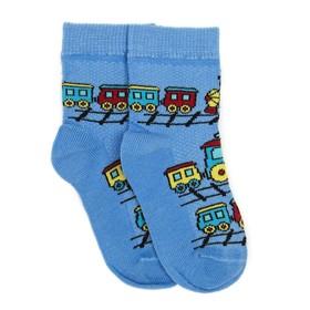 Носки детские, цвет голубой, размер 12-14