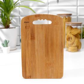 Доска разделочная BRAVO Bamboo, бамбук, 28×18×1 см