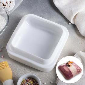 Форма для муссовых десертов и выпечки Доляна «Квадро», 16,5×5,5 см, цвет белый