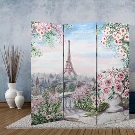 Ширма 'Картина маслом. Розы и Париж', 160 × 150 см Ош