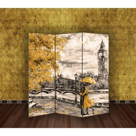 Ширма 'Картина маслом. Прогулка по Лондону', 160 × 150 см Ош