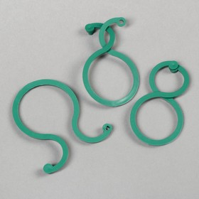 Скрепка садовая, набор 30 шт., зелёная