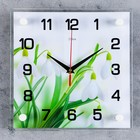 """Часы настенные, серия: Цветы, """"Подснежники"""", 25х25 см микс"""